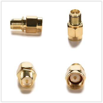 1Pc/4Pcs SMA Male Plug to RP-SMA Female Jack RF Coax Adapter convertor Straight goldplated image