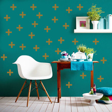 DCTOP 32pcs 7*7 OM Islamic Wall Decal Removable DIY Cross Shape Nursery Room Sticker Home Decoration For Living Room