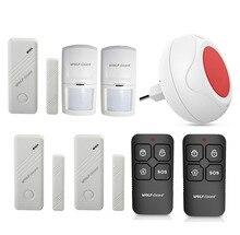 Wireless DIY Home Security Alarm Burglar System Indoor LED Flashing Siren PIR Motion Detector Door Window Sensor JD-11 Set B