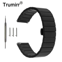 20mm Stainless Steel Watch Band Quick Release Strap For Ticwatch 2 42mm Butterfly Buckle Wrist Belt