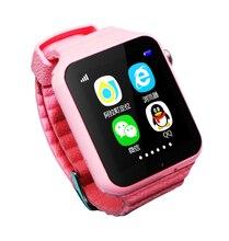 2017 NUEVO GPS SmartWatch V7K bebé Inteligente reloj con cámara SOS Tracker Dispositivo de Localización de Llamadas Anti-Perdido Monitor PK Q90 Q750