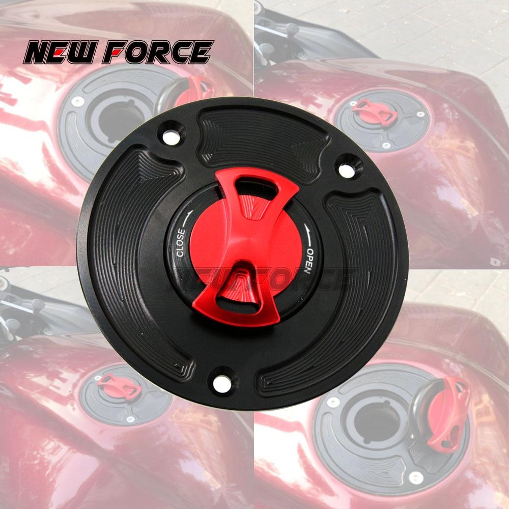 Red Keyless Fuel Gas Tank Cap Cover For Suzuki GSXR600 1000 1300 SV1000S CNC US