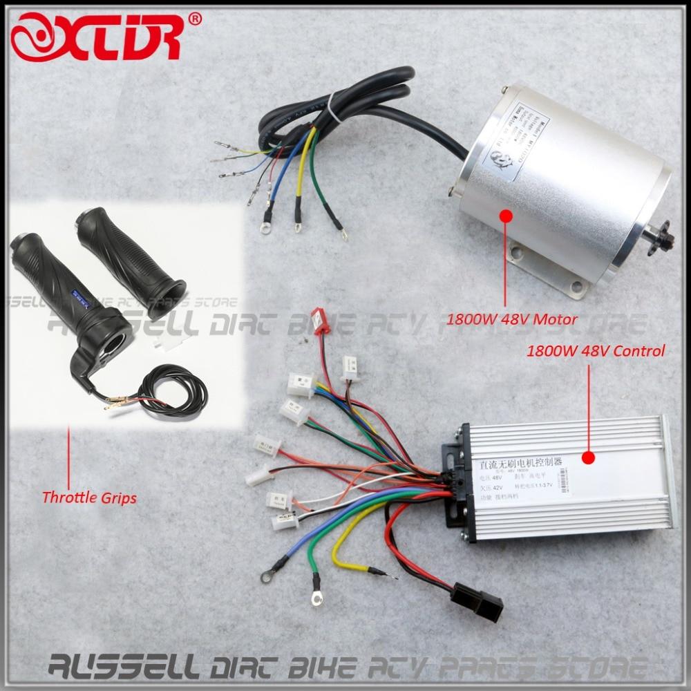 Brushless Motor Controller Throttle Grip Electric Bike Scooter  ATV 1800W 48V