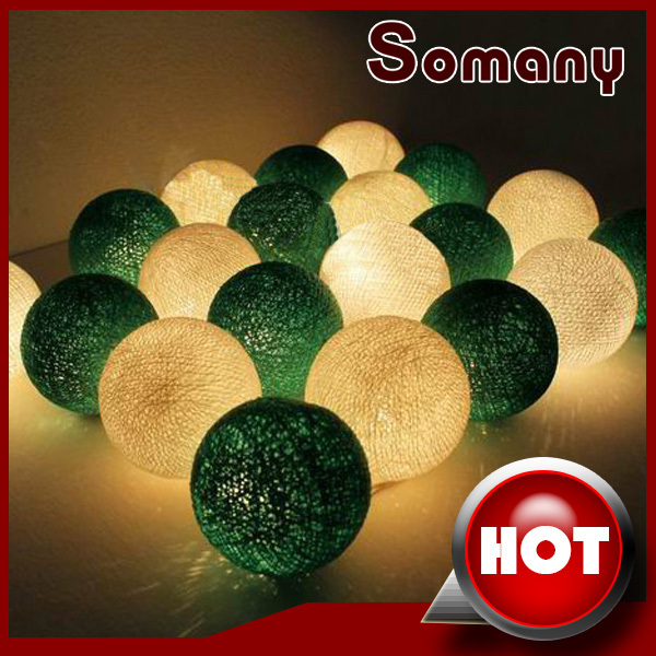ФОТО 20pcs/set Decoration Light for Christmas Party Green and White Wedding Rope Light Luminarias Decor Mixed Colors Lighting Balls