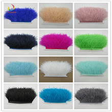 2017 New! Wholesale high quality 5- 10 meters ostrich feather ribbon, length 8-11cm / DIY clothing accessories