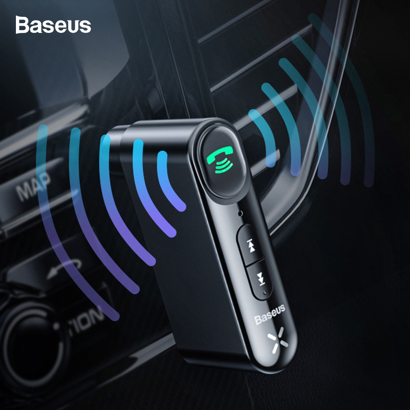 Baseus Bluetooth Receiver 3.5mm Wireless Audio Receiver Auto Bluetooth 5.0 Adapter For Car Speaker Headphone Handsfree With Mic