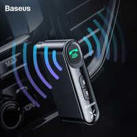 Baseus récepteur Bluetooth 3.5mm récepteur Audio sans fil Auto Bluetooth 5.0 adaptateur pour haut-parleur de voiture casque mains libres avec micro