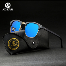 2019 New KDEAM Sports Polarized Sunglasses Men Semi-Rimless Coating Lens Shades For Women With Case KD3016