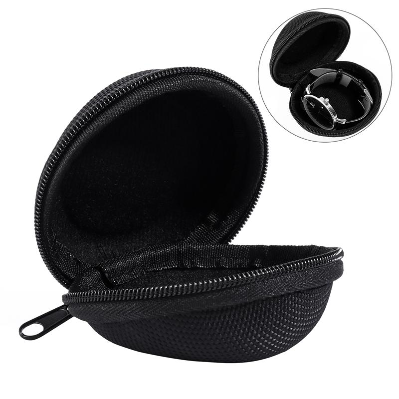 6cb444610770 US $2.48 25% OFF Portable Single Watch Travel Case Watch Box with Zipper  And Soft Felted Interior for Holding Wristwatch Smart Watch (Black)-in ...