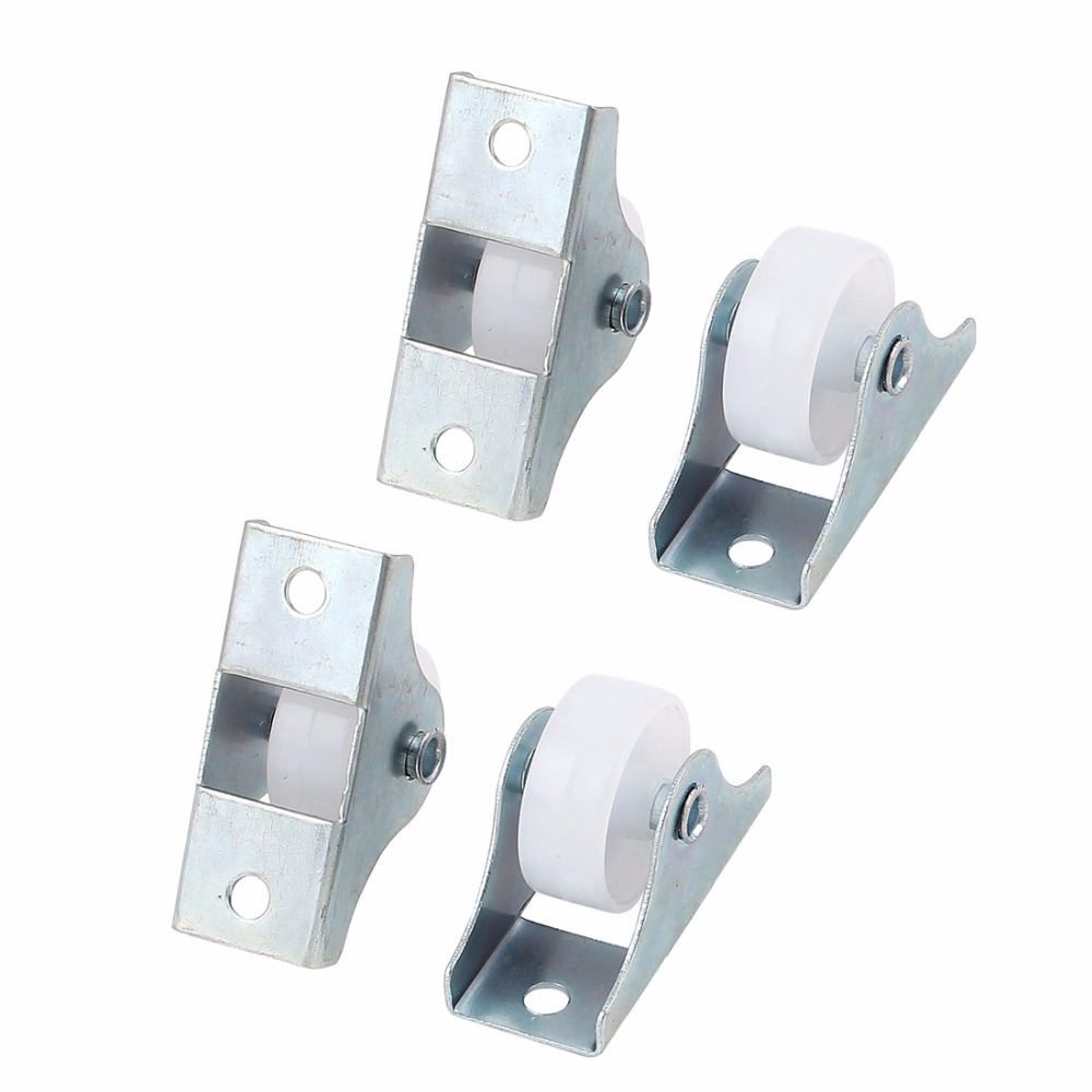 Uxcell Hot Sale 4Pcs Nylon Rectangle Top Plate Shopping Carts Caster Wheels 25mm for Trolleys,Furniture,Rack, etc.