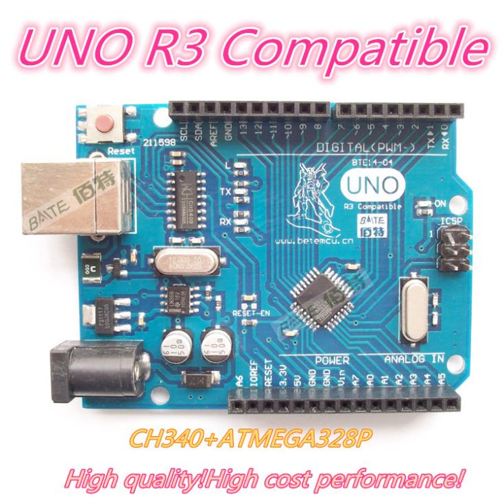 1PCS UNO R3 UNO board for Arduino(Compatible) UNO MEGA328P CH340 NO USB CABLE applicatori di etichette manuali