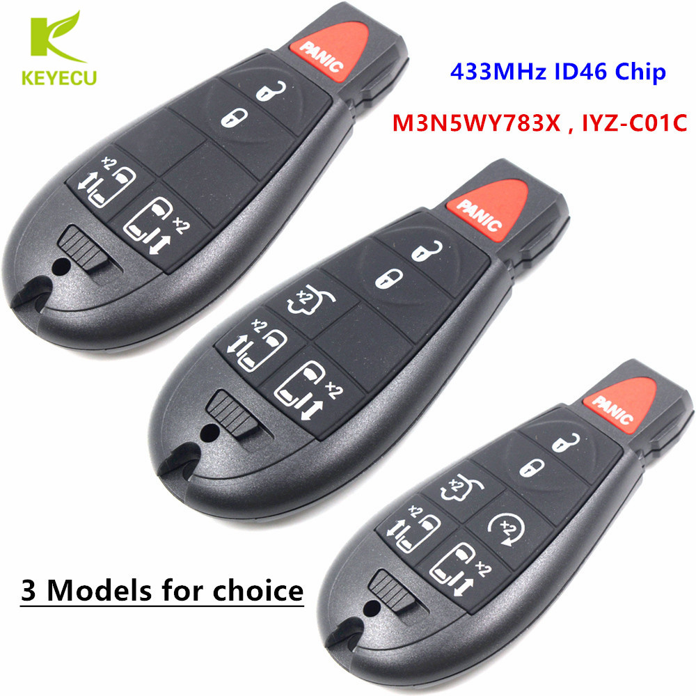 2 NEW Fobik Remote Transmitter Key Fob Blade For  Town /& Country Grand Caravan