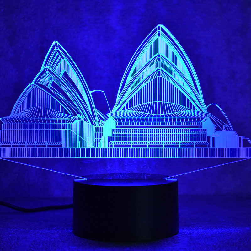Bedroom Lamps Sydney: 3D LED Visual Sydney Colorful Light Fixture USB Creative