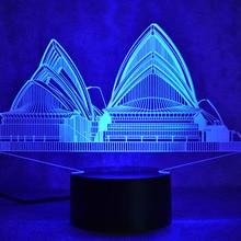 led視覚シドニーカラフルな照明器具usbクリエイティブテーブルランプムードハウス睡眠ナイトライトノベルティオペラランプキッズギフト 3d