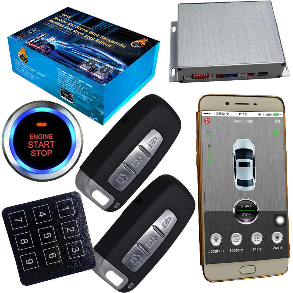 gps car alarm smart phone app auto ignition system keyless entry central control car door lock. Black Bedroom Furniture Sets. Home Design Ideas