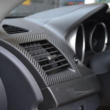 Автомобильный Кондиционер наклейка на розетку из углеродного волокна для MITSUBISHI Lancer EX 2010 2011 2012 1 пара автомобильных наклеек s автомобильные аксессуары