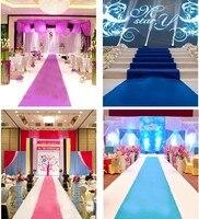 Роскошные Свадебные украшения Свадебные Ковры бегун церкви этап зал свадебное Ковры проходу Бегун Коврики белый красный розовый синий 50 м