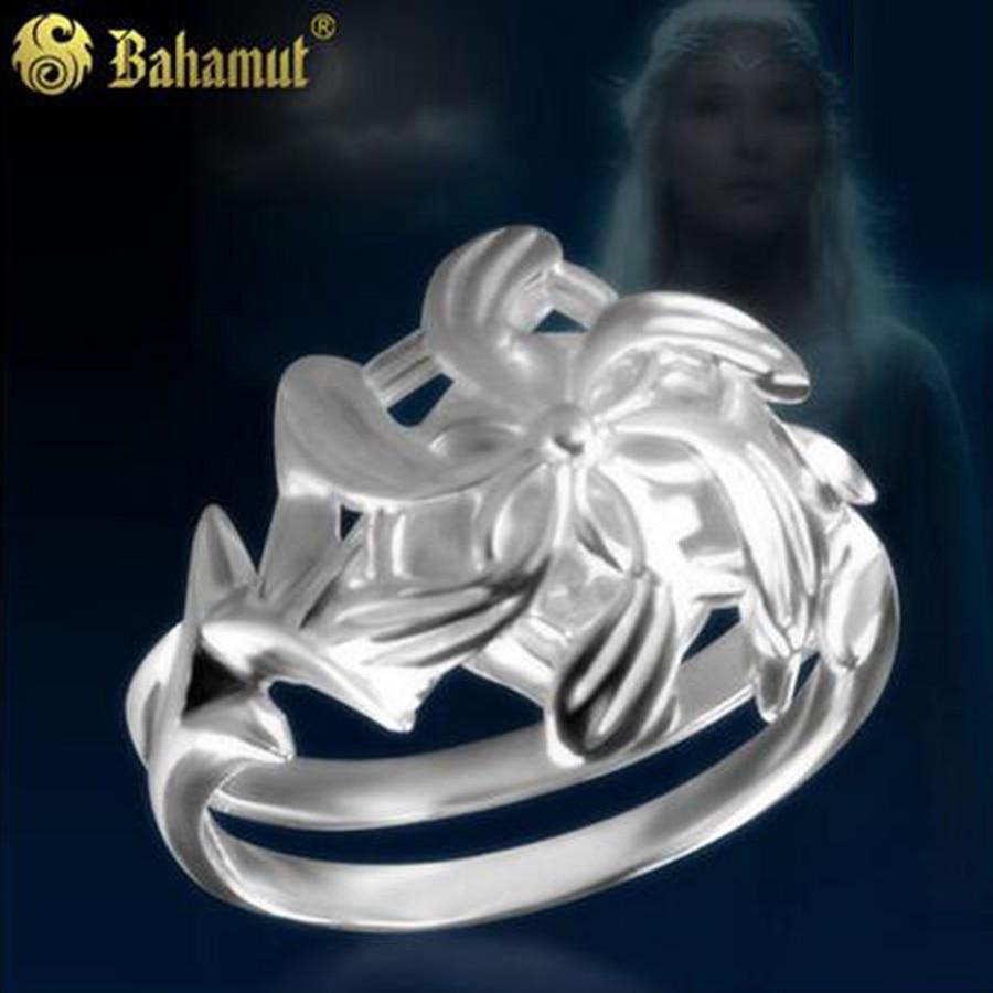 Bahamut Ring LOTR Silver Nenya Galadriel Ring Lotr - 925 Sterling Silver for Flower Shap ...