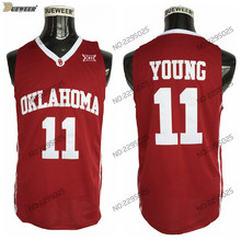 b177184732b DUEWEER Mens 2018 New Trae Young Oklahoma Sooners College Basketball Jersey   11 Trae Young Red University Basketball Shirts