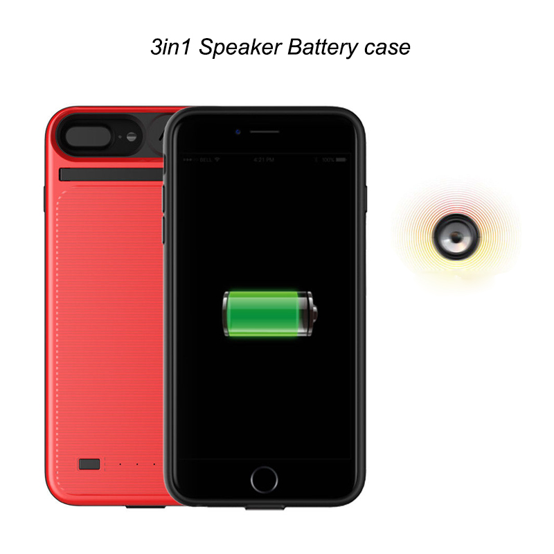 3in1 Speaker Battery Case For iphone 6 6S 7 8 Plus Power bank Charger /movie/Music Sound external release Phone cover For 7Plus3in1 Speaker Battery Case For iphone 6 6S 7 8 Plus Power bank Charger /movie/Music Sound external release Phone cover For 7Plus