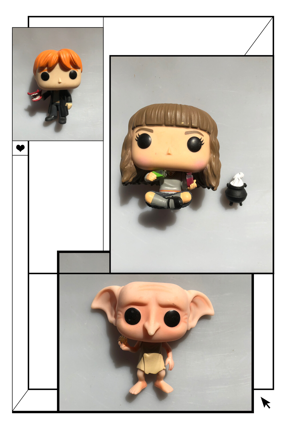 Original Funko Pop Used Harry Potter Hermione Cauldron Ron Howler Dobby Snapping Vinyl Action Figure Collectible Model Loose Toy