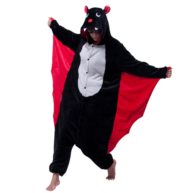 f30be08cf080 New Vampire Bat Costume Onesies Adults Black Bat Man Women s Evil Bat  Cosplay Onesies Halloween