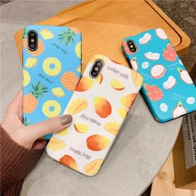 Applicable To Iphone 6 7 8 6s Fruit Case For X XS Phone Xs Cover Summer Drop C