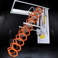 Высокое качество металлический тянуть вниз лестницы чердак Электрический Телескопический чердак лестницы алюминиевые Телескопический Эл