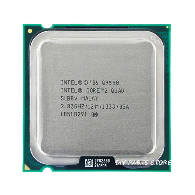 4 core INTEL Core 2 QUDA Q9550 CPU INTEL Q9550 Processor 2 8G hz 12M 1333GHz
