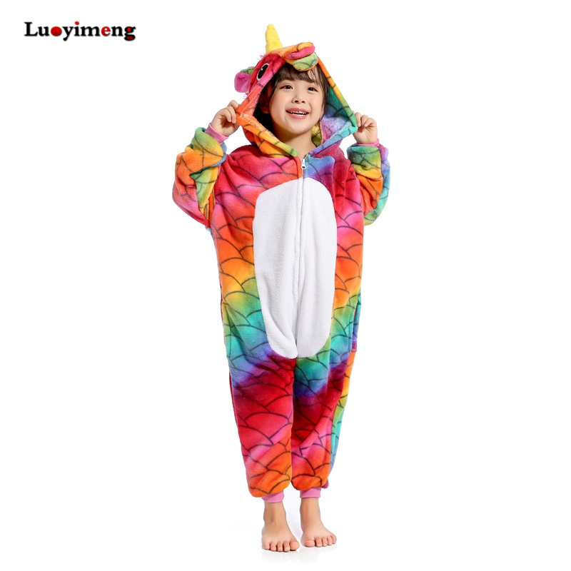e9105f54d3 Dropwow Kigurumi Pajamas For Children Girls Unicorn Anime Panda ...