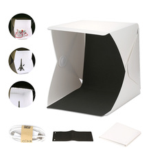 Tabletop Shooting Room Portable LED Mini Studio Soft Light Box Photography Backdrop Folding Softbox Camera Background