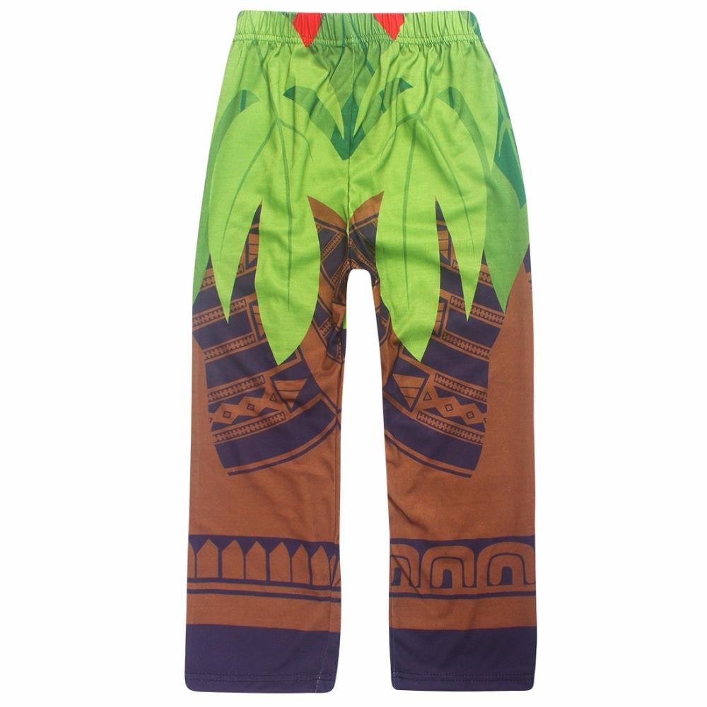 2017 Boys Sleepwear Moana Costume Girls Pajamas Pyjamas Kids Boys Pajamas Long Sleeve T-shirt + Print Pants Gils Clothing Set