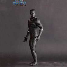 цены 25cm avengers Infinity War Super Hero Black Panther movable Action figure PVC toys Model doll collection