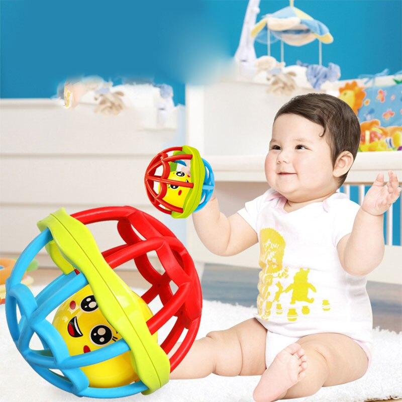 Hochet balle musicale Fitness balle jouet main saisir exercice couleurs vives pacifier hochet AN88