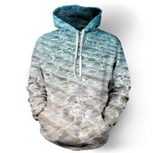 Europe America 3D Print Sea Beach Hoodies Men/Women Sweatshirt Hooded Loose Pullovers