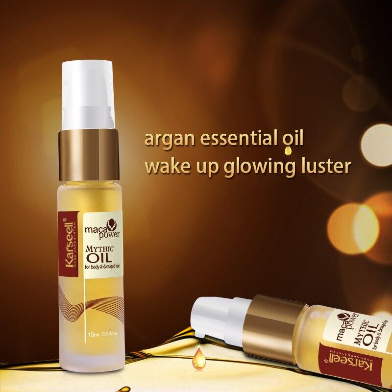 2 бөтелке Марокко Argan Oil Бас терісі Frizzy - Шаш күтімі және сәндеу - фото 3