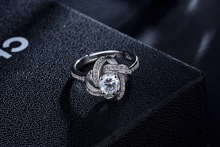 DIEERLAN 19 Bridal Jewelry Sets 925 Sterling Silver Crystal Cross Clover Flower Necklaces for Women Wedding Jewelry Bijoux 12