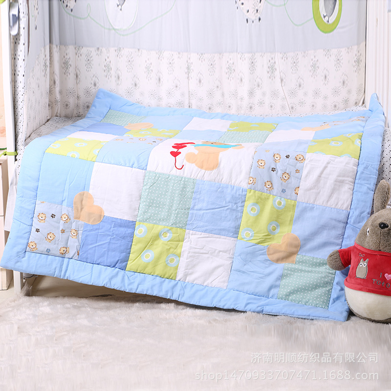 Baby Blanket Toddler Kids Printing  Cute Bear Shape Cotton Blanket Soft Bedding Quilt Newborn Swaddling Wrap 115*115cm thicken soft knitted sleeping bag kids wrap mermaid blanket