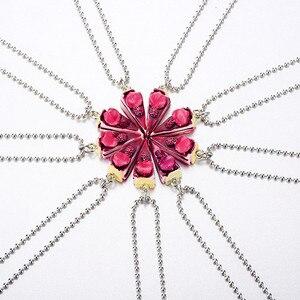 Ожерелье с подвеской, 9 деталей, Круглый, с днем рождения, Roseleaf