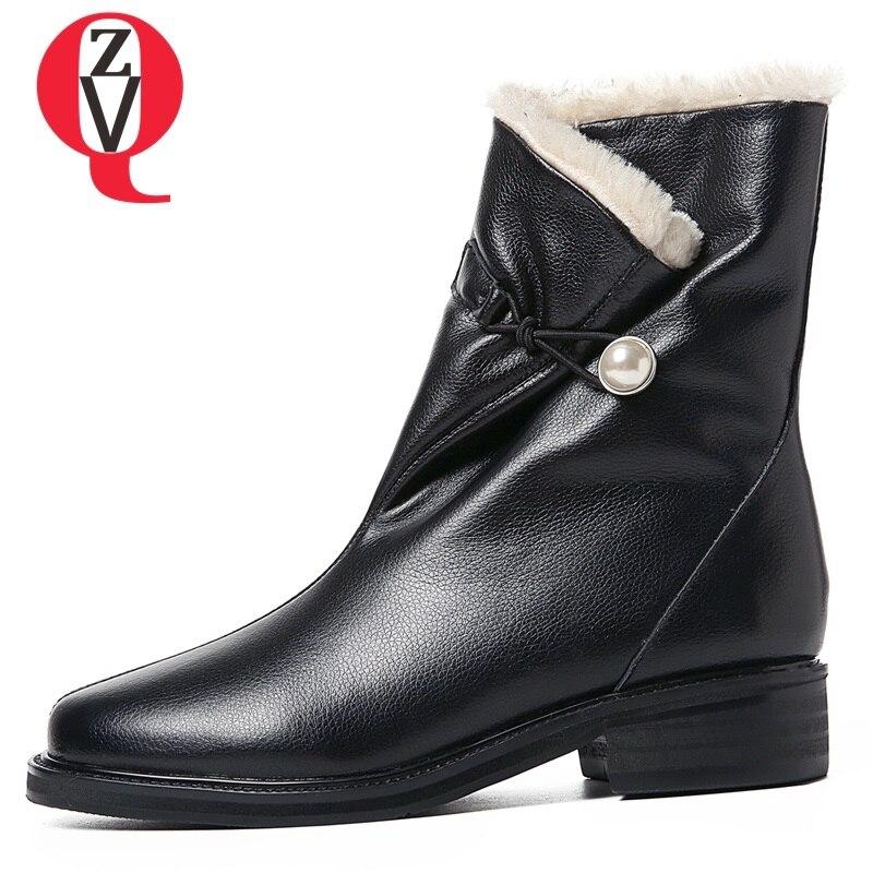 Punta Leather 2018 Al Zvq Caldo Cuoio Peluche Slip Da New Fuori Hoof  Rotonda Concise Suede ... bea601aba1c