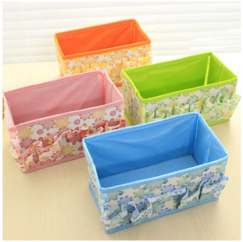 1 Pcs Of Folding Multifunction Non-woven Make Up Cosmetic / Jewelry / Storage Box Container / Small Storage Bag image