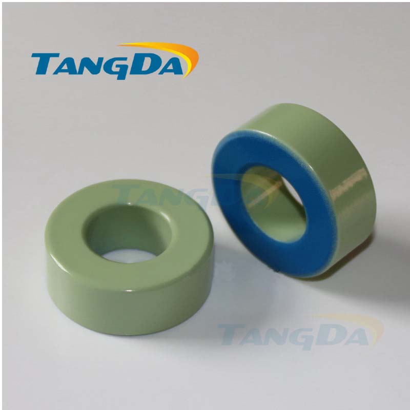 Tangda Iron powder cores T250-52 OD*ID*HT 64*31*26 mm 242nH/N2 75ue Iron dust core Ferrite Toroid Core toroidal green blue transformers ferrite toroid cores green 74mm x 39mm x 13mm