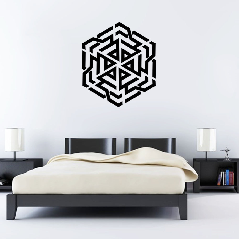 US $5.69 5% OFF|islamic wall stickers home decoration muslim bedroom mural  wallpaper art vinyl decals 572-in Wall Stickers from Home & Garden on ...