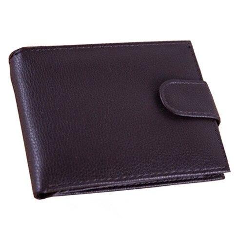 Hombres Carteras de cuero de Vaca cerrojo 2015 Moda Marca Hombres Cartera de Cuero Genuino Billetera Masculina Titular de la Tarjeta Monedero Del Dinero Carteira masculina