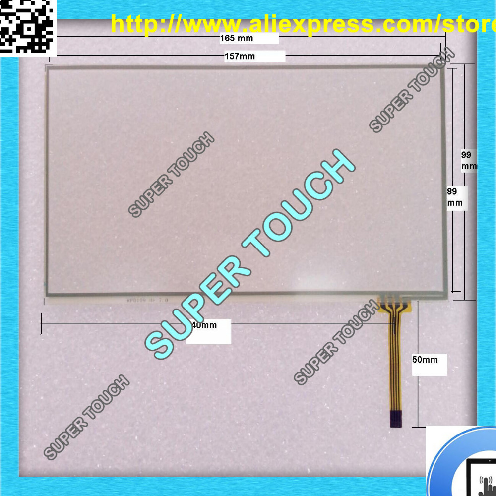 7 touch screen 165 X 99 mm Free shipping 7 inch gps touch screen Gps TouchScreen Resistive Touch Screen Touch Screen Digitizer