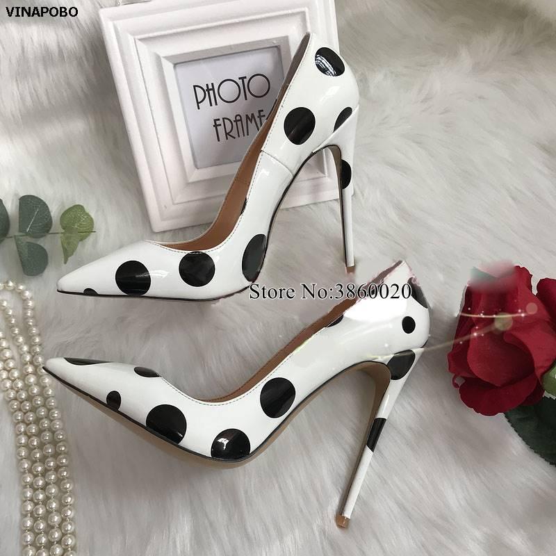 Women High Heels Wedding Shoes Pumps Black Stilettos Heels Sexy Pointed Toe White Pumps Thin Heels