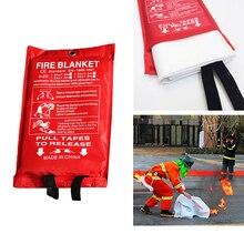 1,2 м X 1,8 м противопожарное одеяло, одеяло для аварийного выживания, одеяло из стекловолокна, огнезащитное защитное покрытие, принадлежности для пожаротушения