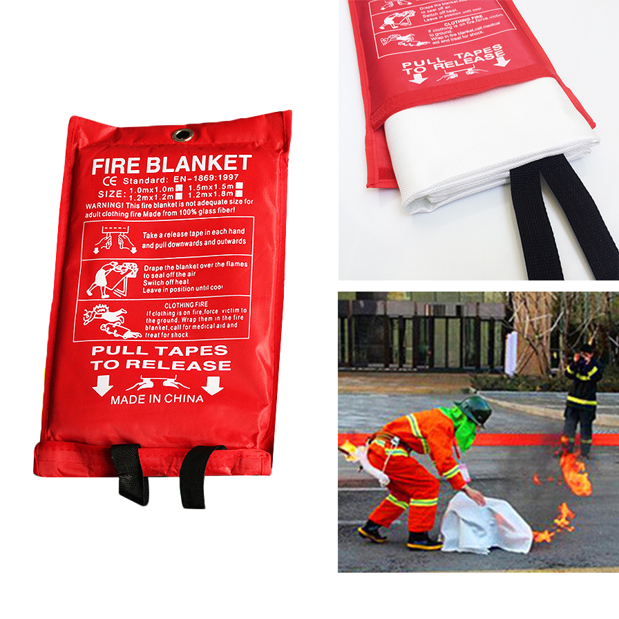 1.2m X 1.8m Fire Blanket Emergency Survival Escape Blanket Fiberglass Flame Retardant Safety Cover Fire Extinguishing Supplies new 1 5mx1 5m fiberglass household fire blanket emergency survival fire tents personal safety fire extinguisher tents