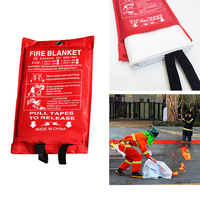 1.2m X 1.8m Fire Blanket Emergency Survival Escape Blanket Fiberglass Flame Retardant Safety Cover Fire Extinguishing Supplies