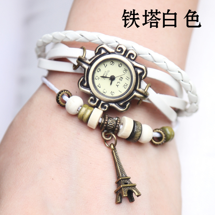Hot Sales High Quality Tower Pendant Genuine Cow Leather Watch Women Ladies Men Fashion Dress Quartz Wrist Watch kow055  hot sales owl pendant genuine cow leather watch women ladies men fashion dress quartz wrist watch relogio feminino kz015